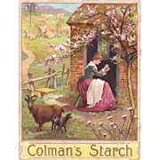 Victorian Advertising Label for Coleman's Starch