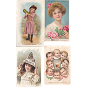 Lot 4 Hires Root Beer Advertising Trade Cards
