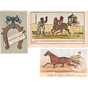 Lot 3 Horse Related Advertising Trade Cards