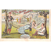 1880s Advertising Trade Card for the Mexican Hammock