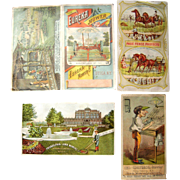 Lot 4 Victorian Advertising Trade Cards of Farming Equipment