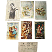 Lot 7 Musical Advertising Trade Cards