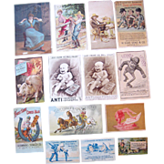 Lot 4  Advertising Trade Cards for Tobacco