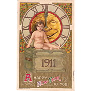 1911 New Years Postcard by Schmucker