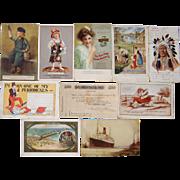 Lot 10 Advertising Postcards 1906-1930