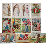 Lot 11 Patriotic Postcards