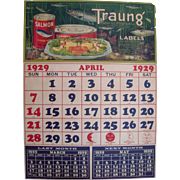 1929 Advertising Poster for Traung Label and Lithograph Co. San Francisco, CA