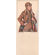 "c1920s Ink Blotter ""Aviation Girl"""