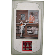 1925 Calendar Promoting Milk