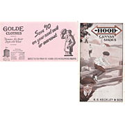 Lot 7 1920s/1930s Advertising Ink Blotters for Clothing (mainly shoes)