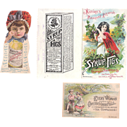 Lot 14 Victorian Advertising Tradecards for Medicines
