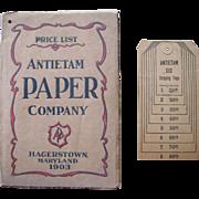 1903 Antietam Paper Co. Advertising Catalog