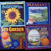 Lot 27 Vintage California Orange Crate Labels #1