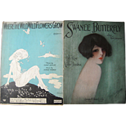 Lot 11 Vintage  Sheet Music 1910s to 1940s