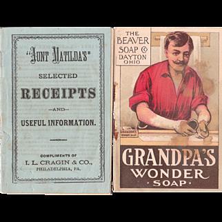 Pair Victorian Era Soap Advertising Booklets