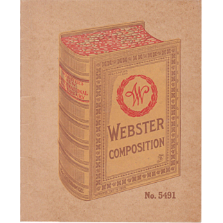 1909 Unused Webster Composition Book (for school students)