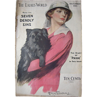 The Ladies World Magazine December 1916 Issue w/ Clarence Underwood Cover