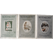 Lot of 3 1929 Kodakery Magazines