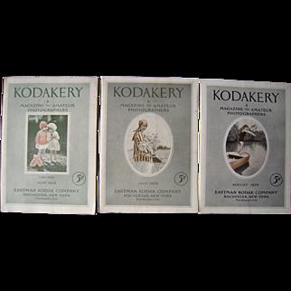 Lot of 3 1929 Kodakery Magazines
