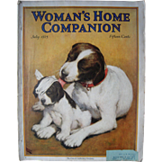 July 1925 Woman's Home Companion Magazine w/Dogs Cover - Red Tag Sale Item