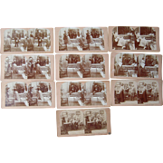 Group 10 Stereoviews, c1890s, Story of Soldier Going off to Battle
