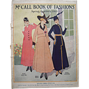 McCall's Book of Fashions Magazine Spring Quarterly 1915 - Red Tag Sale Item