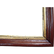 """Thin Walnut Picture Frame w/Gold Liner from the Victorian Era 8"""" x 10"""""""