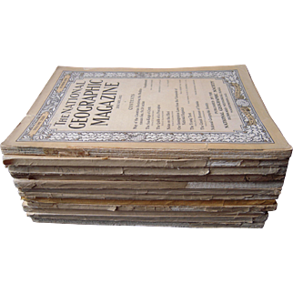 Complete Set National Geographic Magazines for 1912 (incl Head Hunters of Luzon)