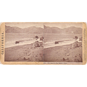 1865 Stereoview of Golden Gate California by Lawrence and Houseworth
