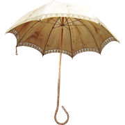 Victorian Era Umbrella w/Gnarled Wood Handle #2