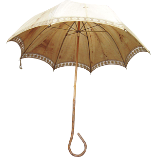 Victorian Era Umbrella w/Gnarled Wood Handle #2