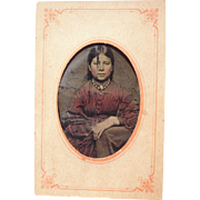 Tintype of Native American Woman
