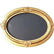 Large Mid 1800s Gold Oval Picture Frame