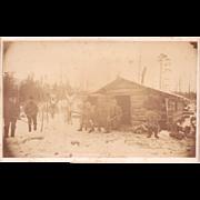 c1880s Albumen Photograph of Hunters w/Deer Lancaster, PA