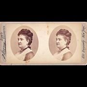 """c1870s Sarony Stereoview of Actress """"Patti"""""""
