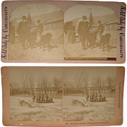 Pair 1890s Stereoviews of Alaska Related Subjects