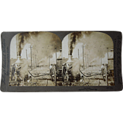 1902 Stereoview of Fire Engines