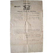 1836 Protection Order for American Seaman