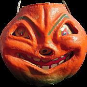 Vintage 1940s/1950s Paper Mache Halloween Jack o Lantern