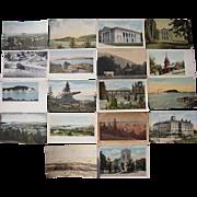 Lot 95 c1910 Postcards of Bar Harbor, Boothbay Harbor, Brunswick, Bath ME