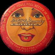 c1910 Advertising Pocket Mirror Nature's Remedy