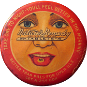 c1910 Advertising Pocket Mirror Nature's Remedy