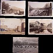 Lot 5 Real Photo Postcards of Montana