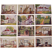 Lot 12  Postcards of Watercolors of Mount Vernon by MT. Vernon Ladies Association 1934