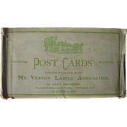 Lot 12 Postcards of Mount Vernon by MT. Vernon Ladies Association 1910s