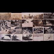 Lot 20 Michigan Real Photo Postcards c1940s