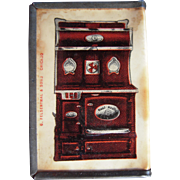 c1910s Advertising Celluloid Match Safe Buckwalter Stove Co.