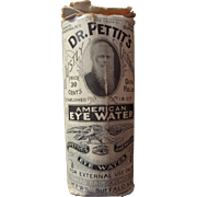 c1900s Advertising Box and Bottle for Dr. Pettit's American Eye Water