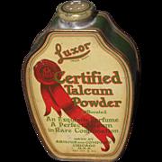 c1920s Luxor Talcum Powder Advertising Tin