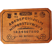 1920 Wooden Ouija Game Board